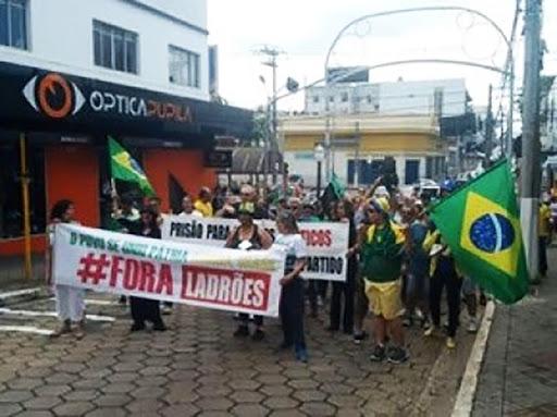 Manifestantes em Avaré(Foto:Divulgação).