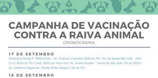 VISA realiza a Campanha Nacional de Vacinação contra a Raiva Animal
